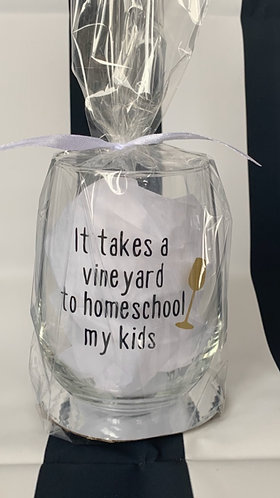 Glass- it takes a vineyard wine glass