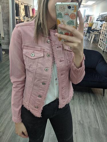 Charlie B Jean Jacket - Pink