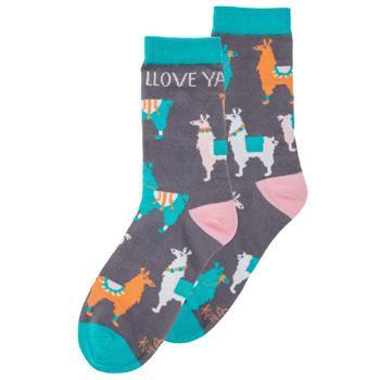 """Llove Ya"" Llama Socks By Karma"
