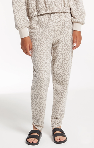 Z supply girls leopard print pants