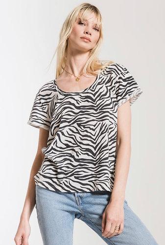White and black zebra t