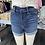 Thumbnail: Sneak peek dark wash denim shorts