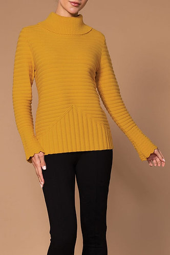 Amber Ribbed Elena Wang Turtle Neck