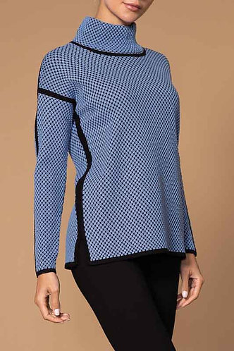 Blue And Black Elena Wang Sweater