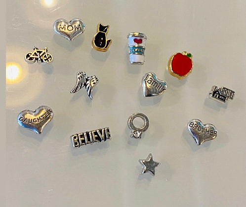 Charms for floating lockets