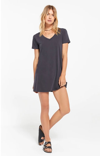charcoal grey cotton t-shirt dress