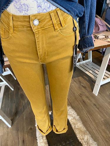 Mustard straight leg Charlie jeans