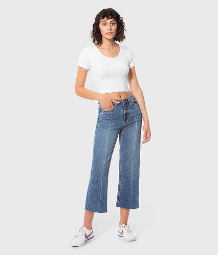 Lola high-rise, wide leg jeans