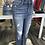Thumbnail: Sneak peek dark wash high rise distressed jeans