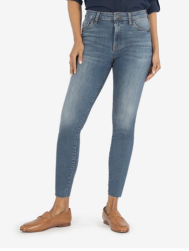 kut connie high rise fab ab ankle skinny
