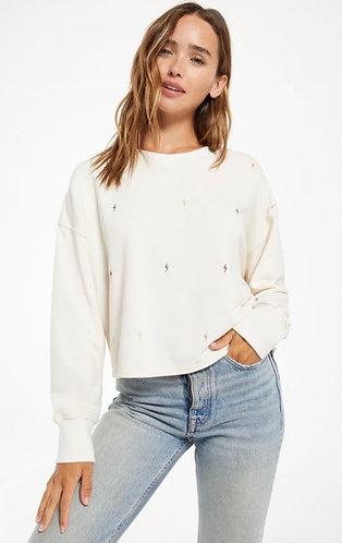Z supply adult mini lightning bolt sweater