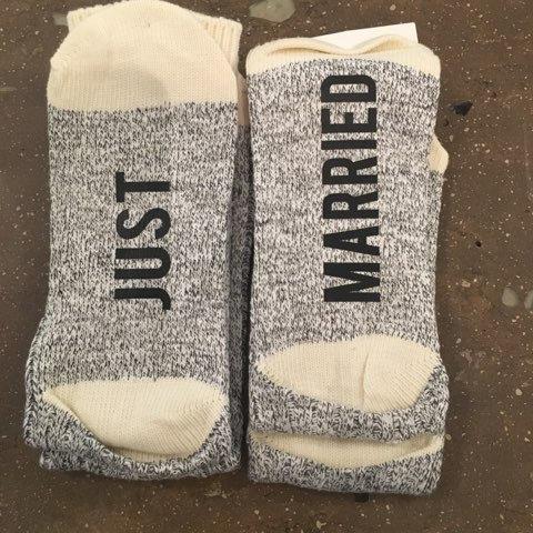 Just Married Socks