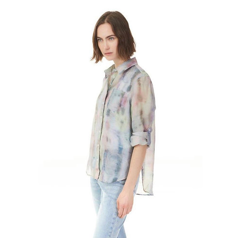 Charlie B Printed watercolour button up blouse