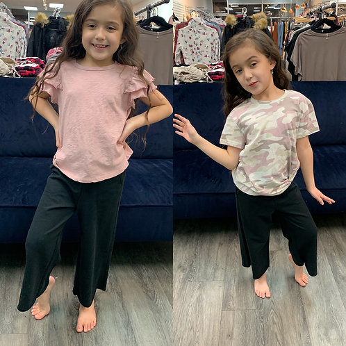 Z supply girls black crop pants