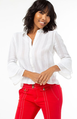 Liverpool White Button Up Blouse