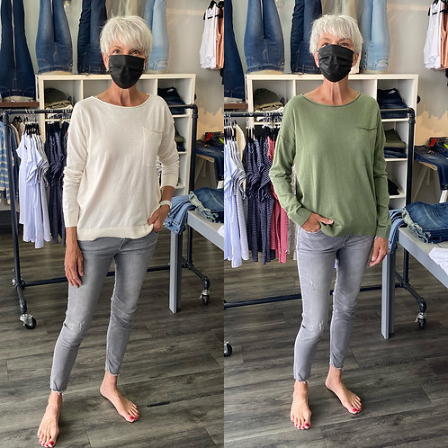 Esprit light sweater with pocket