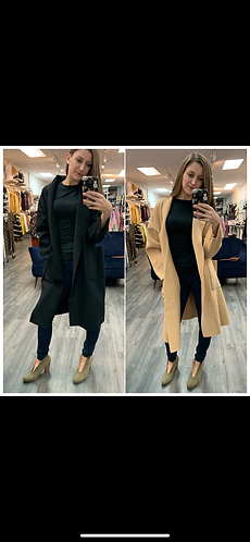 sadie & sage basic open front coat