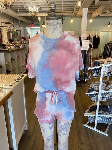 Tie dye blue and pink set