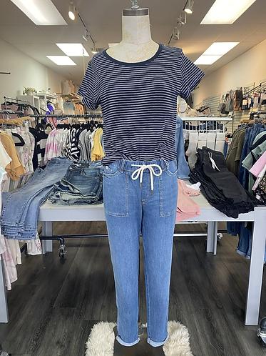Esprit navy striped t shirt