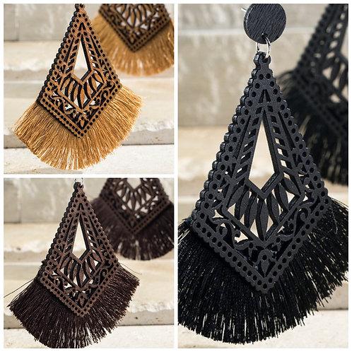 Boho tassle earrings