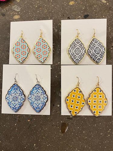 Patterned earrings