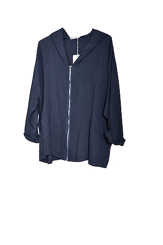 Linen Zip Up Jacket