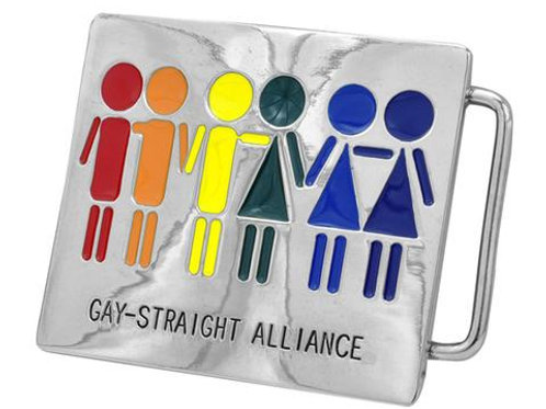 Gay Straight Alliance GSA Pride Equality Belt Buckle Lesbian LGBT