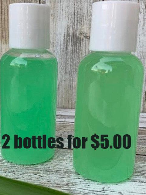 2 Bottles All Natural Hand Sanitizer