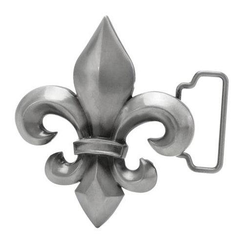 Silver Fleur de Lis Belt Buckle