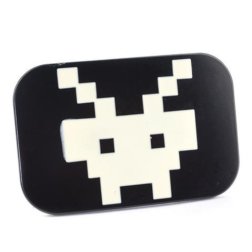 BLACK Video Game Arcade Icon Belt Buckle
