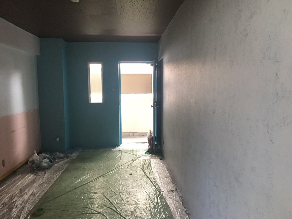 共用部の塗装が完成してきました!