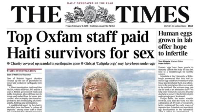 The Oxfam scandal: how would you have handled it?