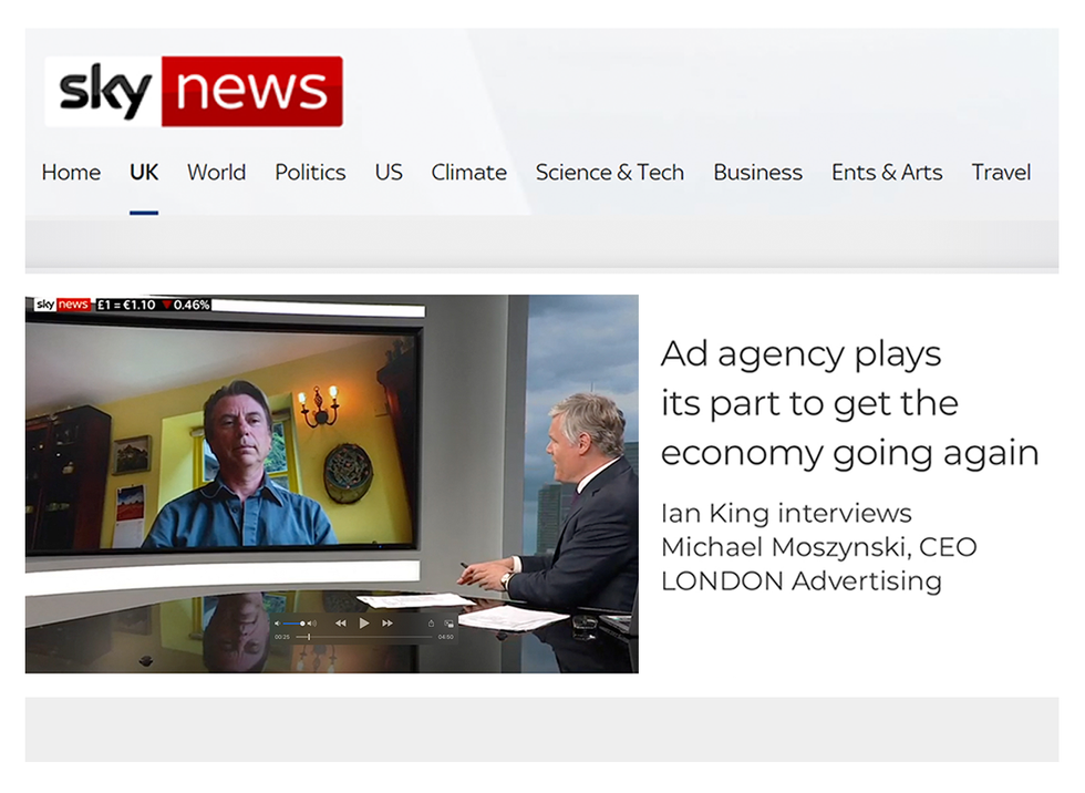 Our ad campaign is getting the interest of the media on its first day