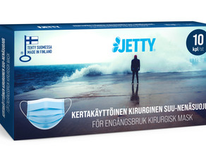 Jetty face masks manufactured in Finland are now available