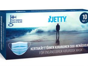 Suomessa valmistetut Jetty suu-nenäsuojat ovat nyt saatavilla