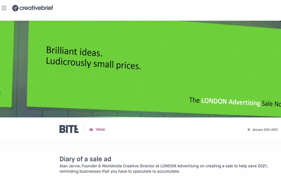Diary of a sale ad. By Alan.