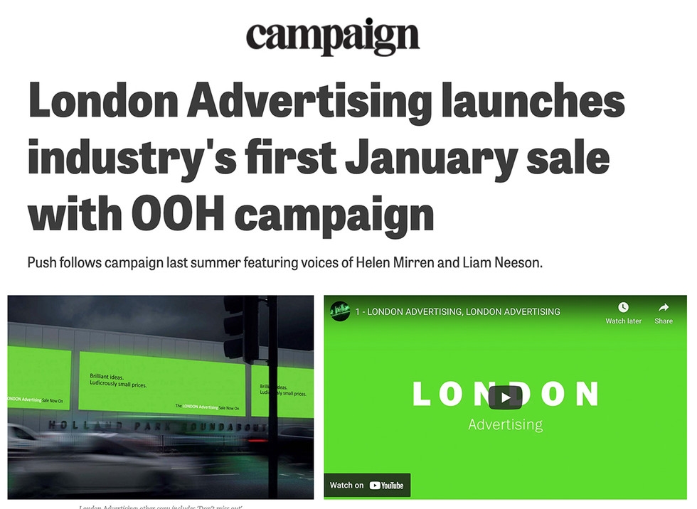 Campaign puts more wind in our Sale.