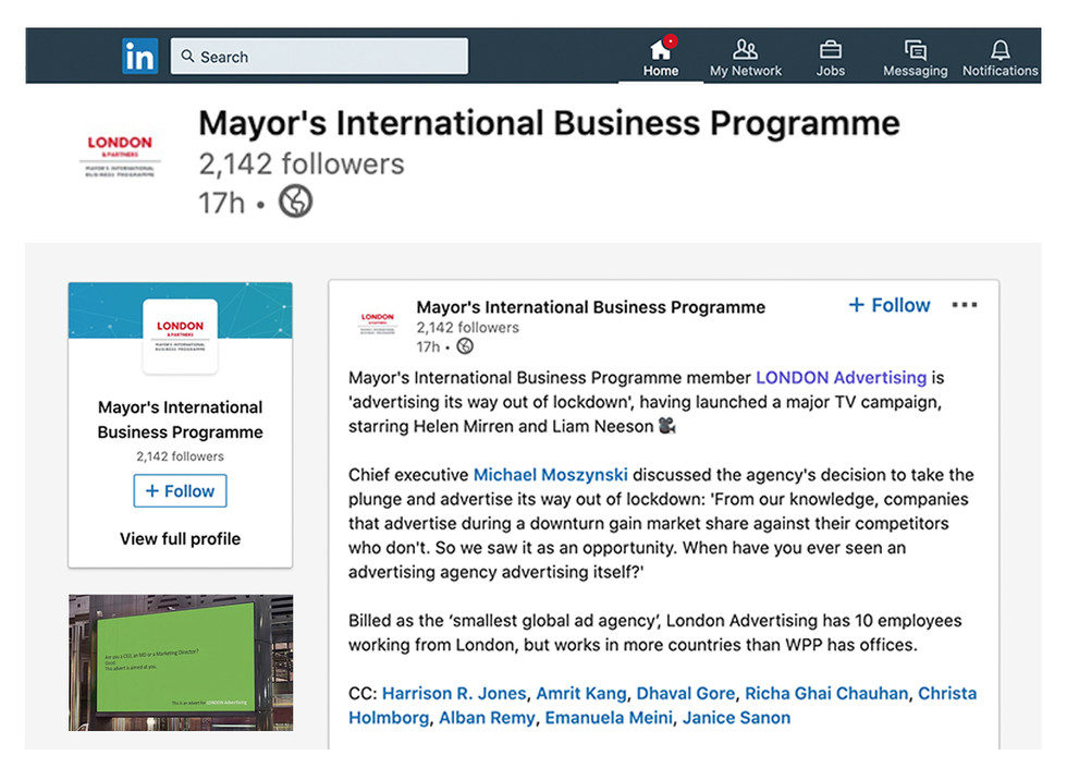 The Mayor reckons LONDON are the business
