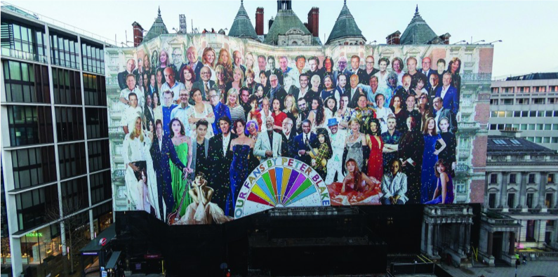 Sir Peter Blake creates collage for Mandarin Oriental in collaboration with LONDON Advertising