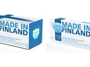 Made in Finland tuoteperheen type2R suu-nenäsuojat nyt saatavilla
