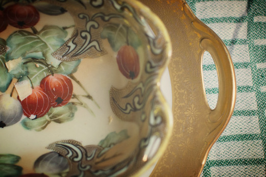 Painted serving tray