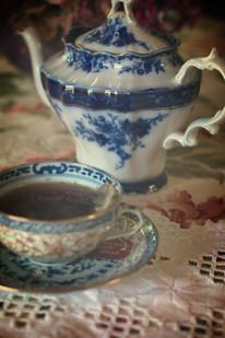 Sandra's favorite teapot and saucer