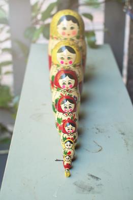 Hand made Russian nesting dolls