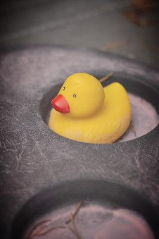 A rubber duck from childhood