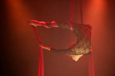 Aerial silks circus artist london wonderground spiegeltent