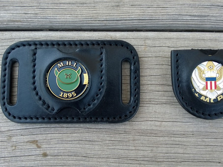 New items: Challenge coin holders!