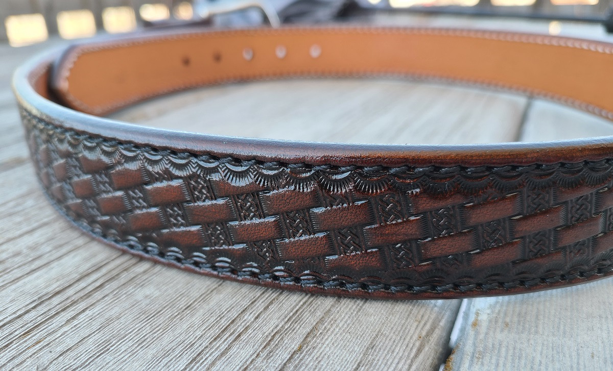 Tooled Brigantine belt russet 2.jpg