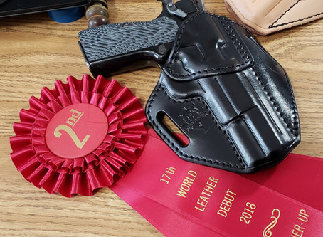 I took 2nd and 3rd at the 2018 World Leather Debut!