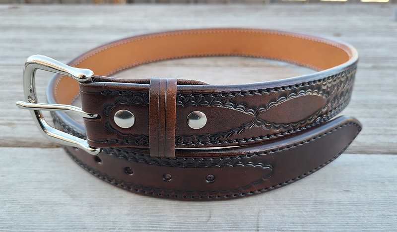 Tooled Brigantine belt russet 1.jpg