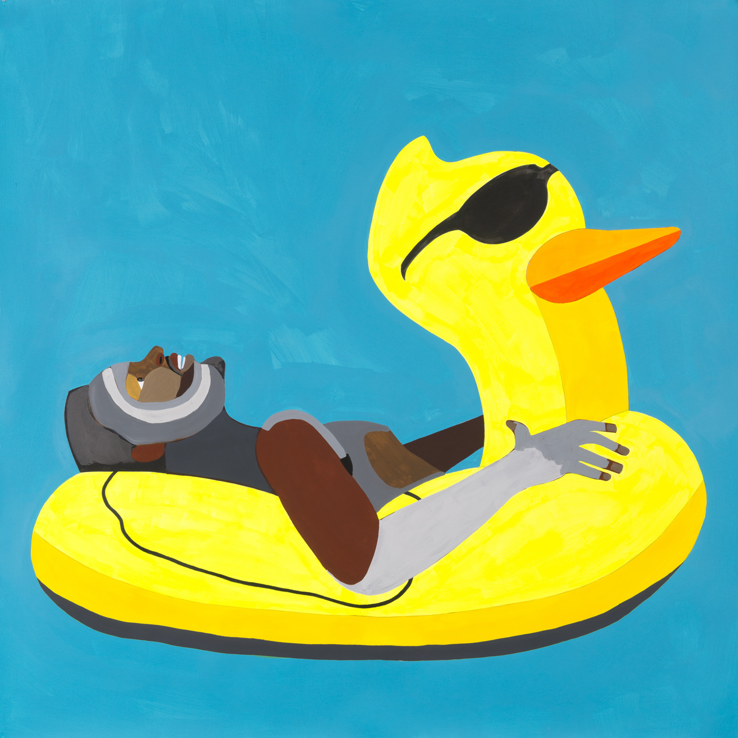 Adams, Floater 50 (ducky with glasses), 2017